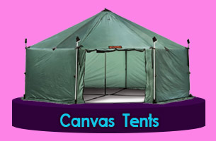 Canvas army tents Praia