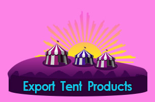 Indiana Stretch Tents for Export