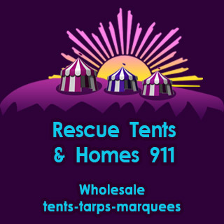 NDjamena Rescue Tents royal mobile Header